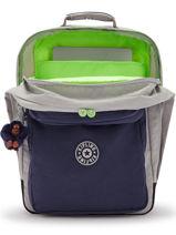 Rugzak 2 Compartimenten Kipling Grijs back to school - 00017131-vue-porte