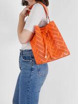 Sac Seau Dryden Cuir Lauren ralph lauren Orange dryden 31818854-vue-porte