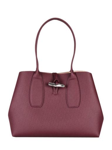 Longchamp Roseau Besace Rouge