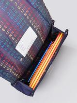 Boekentas It Bag Mini 1 Compartiment Jeune premier Blauw classics CLN21-vue-porte