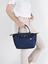 Longchamp Le pliage trÈs paris Handtas Blauw-vue-porte