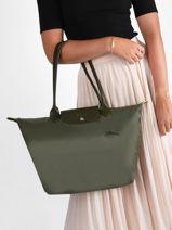 Longchamp Le pliage green Besace Vert-vue-porte