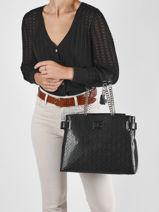 Sac Shopping Cordella Guess Noir cordella GG812610-vue-porte