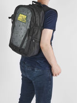Sac à Dos 2 Compartiments Superdry Noir backpack men M91009MR-vue-porte