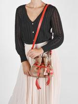 Bucket Bag S Premier Flirt Leder Lancel Oranje premier flirt A10530-vue-porte