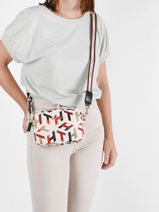 Sac Bandouliere Iconic Tommy Tommy hilfiger Beige iconic tommy AW10371-vue-porte