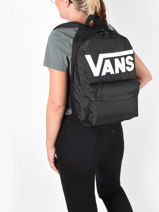 Sac à Dos Vans Noir backpack VN0A5KHP-vue-porte