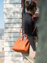 Sac Porté Main Dryden Cuir Lauren ralph lauren Orange dryden 31824872