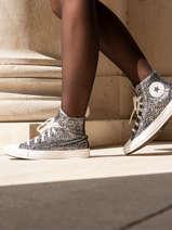 Sneakers chuck taylor all star hi black silver-CONVERSE