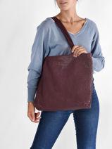 Handtas Natural Leder Biba Violet natural FLI1L-vue-porte