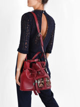 Bucket Bag M Premier Flirt Python Leder Lancel premier flirt A10529-vue-porte