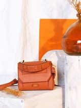 Sac à Main S Ninon Cuir Lancel Orange ninon A09221