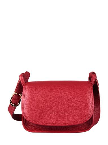 Longchamp Le foulonné Sac porté travers Rouge