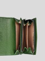 Porte-monnaie Foulonné Pia Cuir Lancaster Vert foulonne pia 20-vue-porte