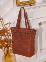 Shoppingtas Velvet Suède Milano Rood velvet VE21062