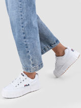 Sneakers sandblast uit leder-FILA-vue-porte