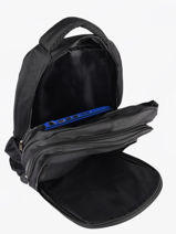 Rugzak 2 Compartimenten Miniprix Zwart fac 9005-vue-porte