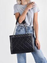 Sac Shopping Katey Guess Noir katey QN787023-vue-porte