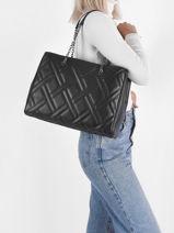 Sac Porté épaule Ck Quilt Calvin klein jeans Noir ck quilt K608444-vue-porte