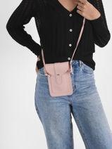 Sac Bandoulière Phonebag Miniprix Rose phonebag 1060-vue-porte