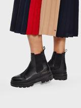 Chelsea boots monochromatic en cuir-TOMMY HILFIGER-vue-porte