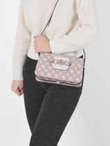 Cross Body Tas Hensely Guess Roze hensely PB837818-vue-porte