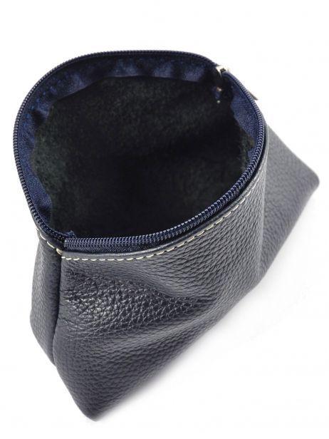 Trousse Cuir Milano Bleu caviar G009 vue secondaire 3
