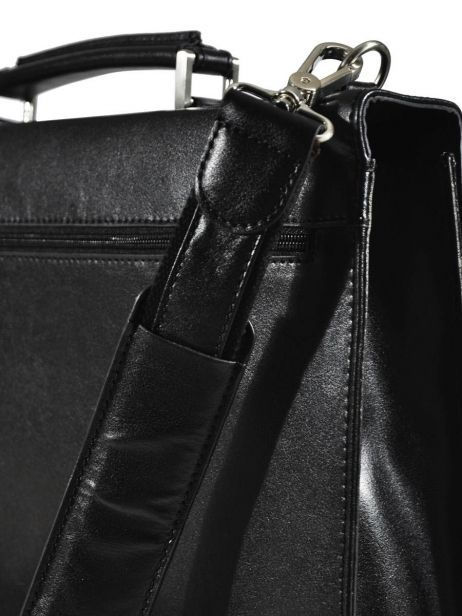 Serviette 1 Compartiment Etrier Noir crosta 63039 vue secondaire 2
