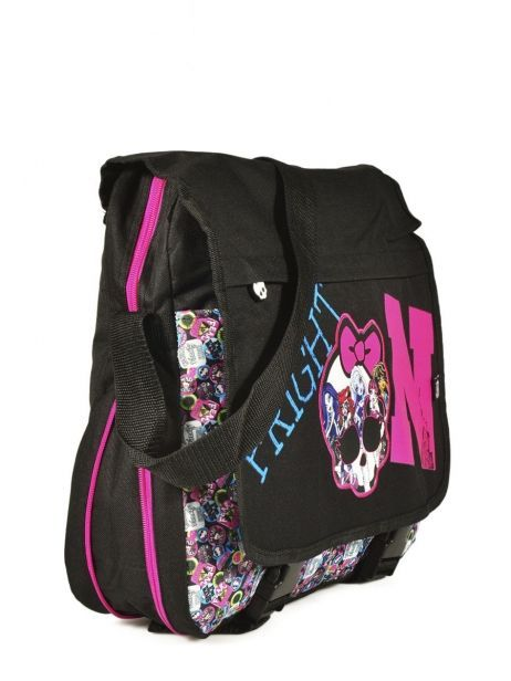 Sac Bandoulière Monster high Noir be a monster MOH37111 vue secondaire 2