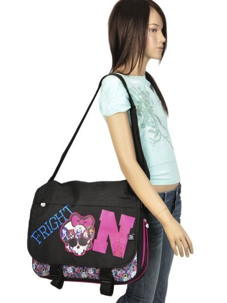 Sac Bandoulière Monster high Noir be a monster MOH37111 vue secondaire 1