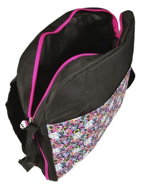 Sac Bandoulière Monster high Noir be a monster MOH37111 vue secondaire 4