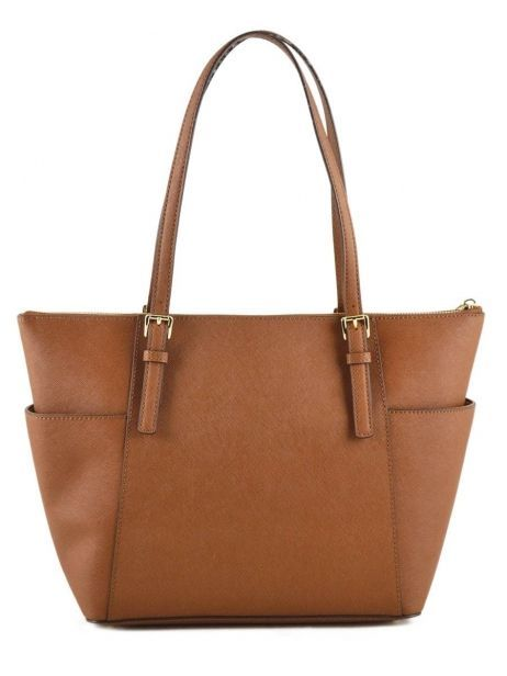 Cabas Jet Set Item Cuir Michael kors Marron jet set item F2GTTT8L vue secondaire 5