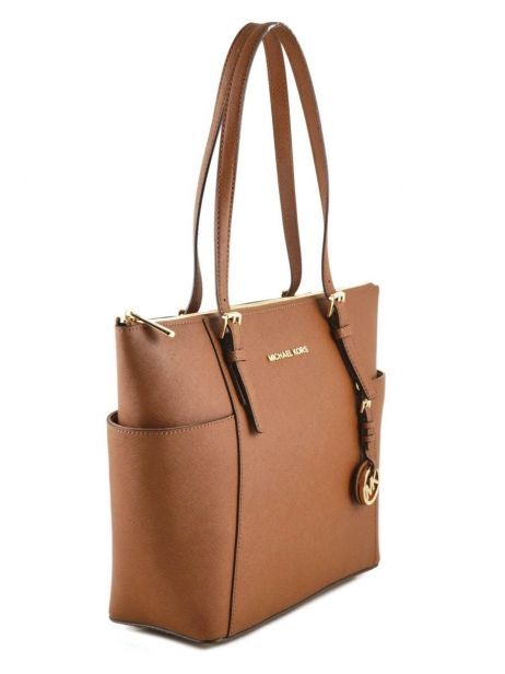 Cabas Jet Set Item Cuir Michael kors Marron jet set item F2GTTT8L vue secondaire 4