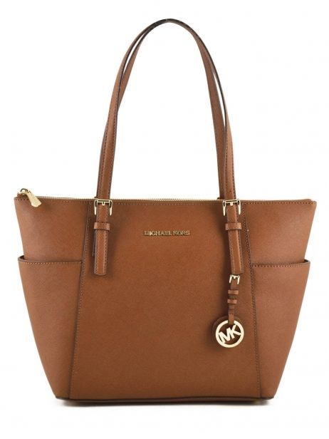 Cabas Jet Set Item Cuir Michael kors Marron jet set item F2GTTT8L