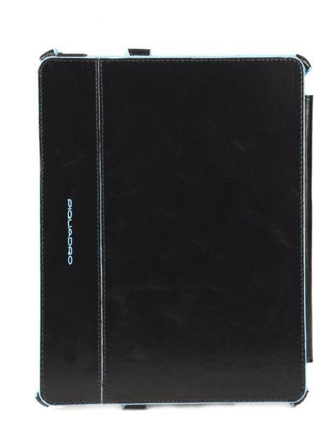 Housse Tablette Piquadro Noir blue square AC2862B2 vue secondaire 3