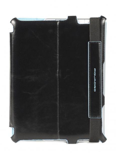 Housse Tablette Piquadro Noir blue square AC2862B2