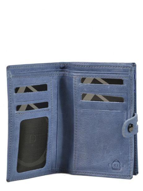 Porte-monnaie Cuir Etrier Bleu viele 718651 vue secondaire 1