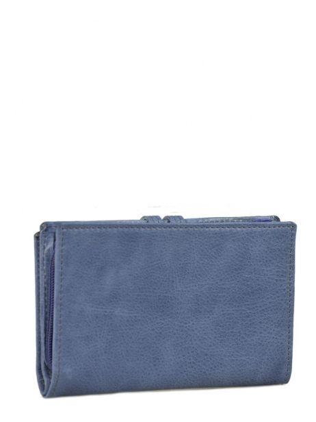 Porte-monnaie Cuir Etrier Bleu viele 718651 vue secondaire 2