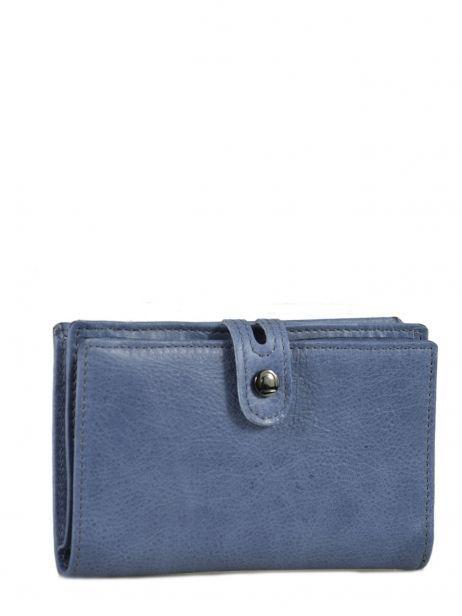Porte-monnaie Cuir Etrier Bleu viele 718651