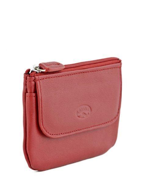 Porte-monnaie Cuir Katana Rouge daisy 553120 vue secondaire 1