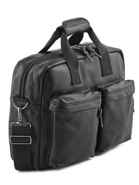 Sac Porté Main 1 Compartiment + Pc 15'' Eastpak Noir leather K023L vue secondaire 3