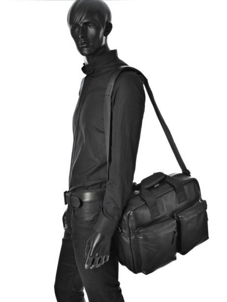 Sac Porté Main 1 Compartiment + Pc 15'' Eastpak Noir leather K023L vue secondaire 2