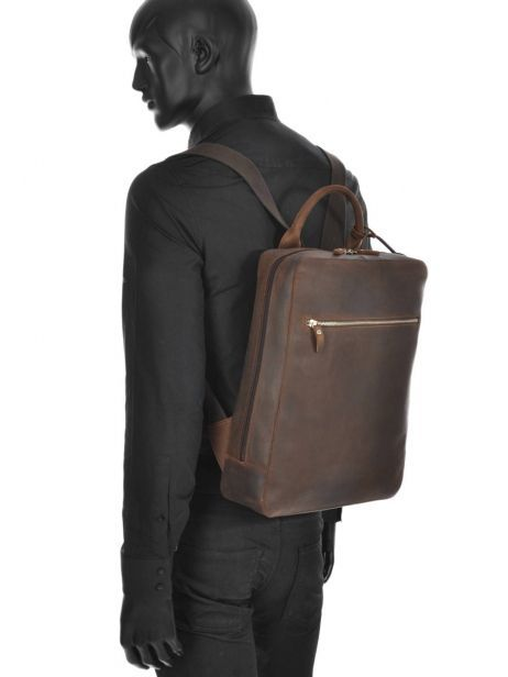 Sac à Dos Business 1 Compartiment + Pc 13'' Leonhard heyden Marron salisbury 7669 vue secondaire 2