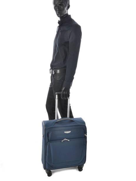 Handbagage Soepel Samsonite Blauw spark 38V020 ander zicht 4