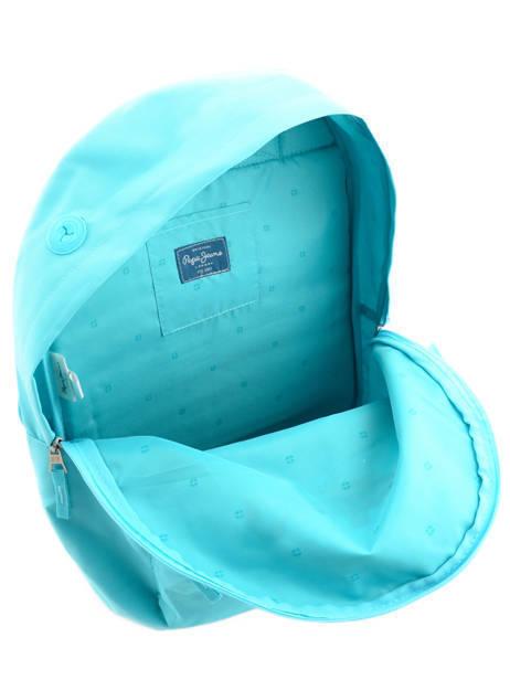 Sac à Dos 1 Compartiment Pepe jeans Bleu plain color 63423 vue secondaire 6