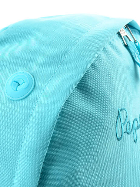 Sac à Dos 1 Compartiment Pepe jeans Bleu plain color 63423 vue secondaire 1
