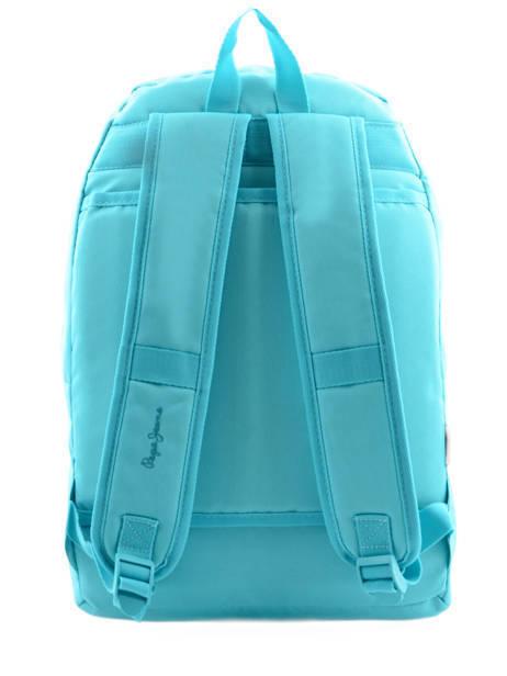 Sac à Dos 1 Compartiment Pepe jeans Bleu plain color 63423 vue secondaire 5