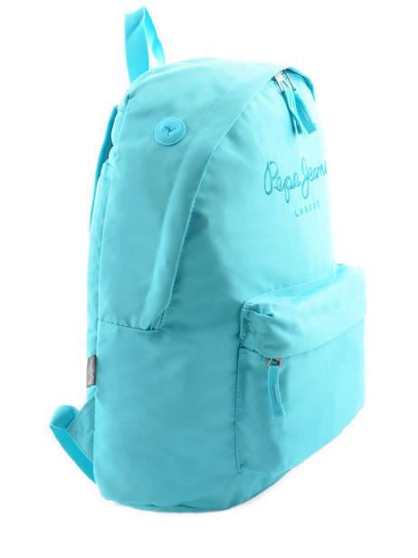 Sac à Dos 1 Compartiment Pepe jeans Bleu plain color 63423 vue secondaire 4