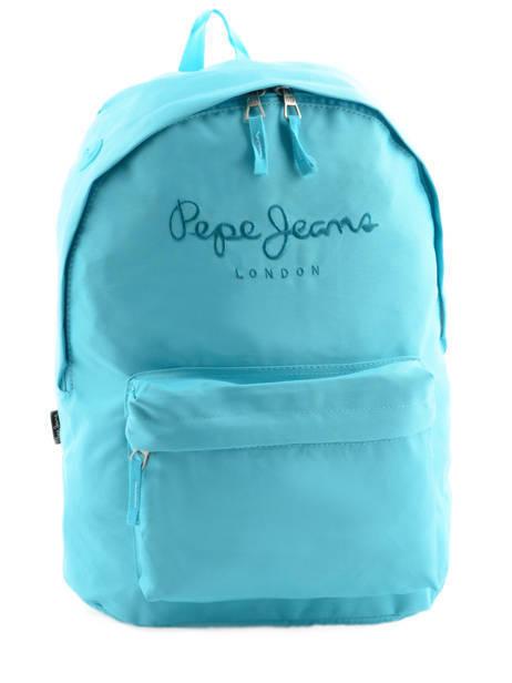 Sac à Dos 1 Compartiment Pepe jeans Bleu plain color 63423