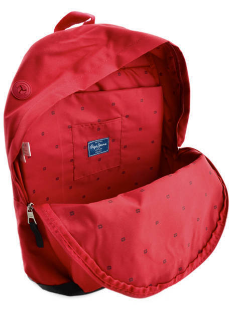 Sac à Dos 1 Compartiment Pepe jeans Rouge jackson 63923 vue secondaire 6